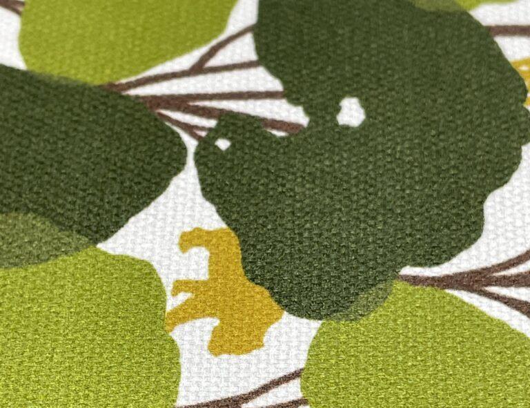 オックス生地 緑配色